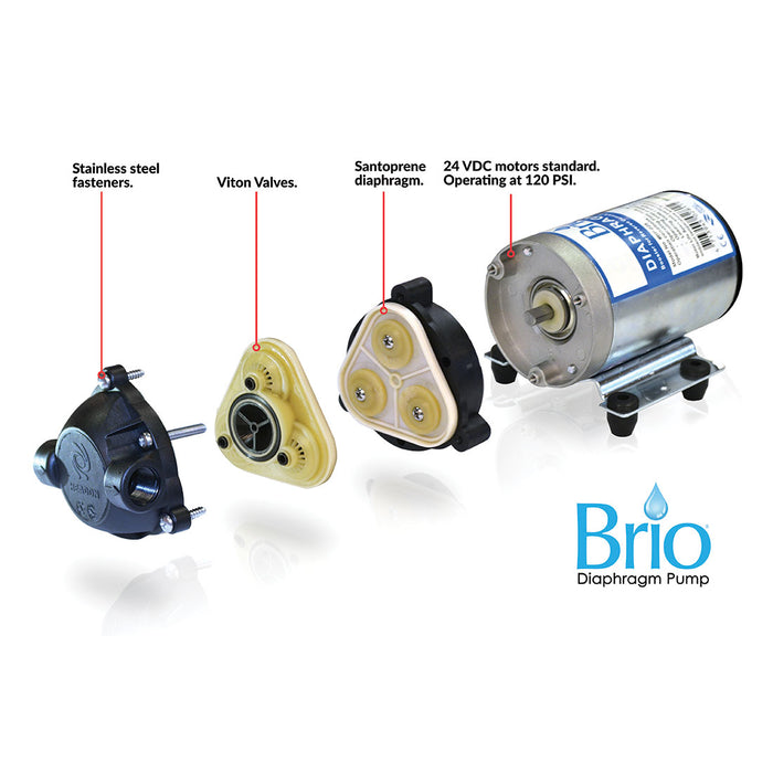 Brio Signature Diaphragm Booster Pump for RO Filter Systems