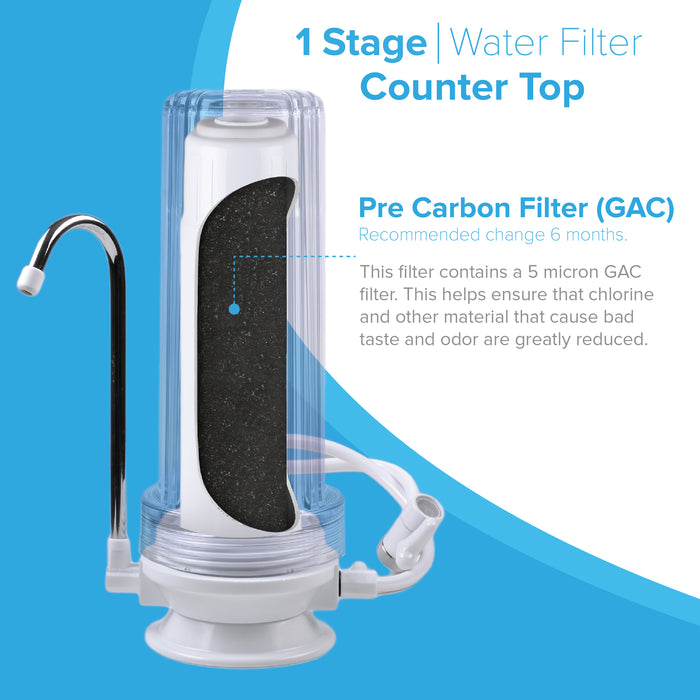 1 Stage Countertop Drinking Water Filter System, Brio Essential