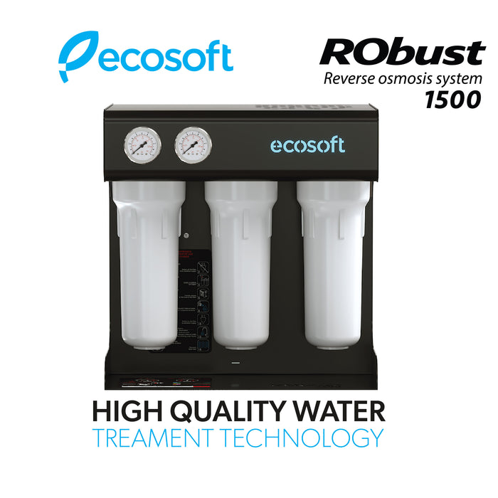 Commercial Reverse Osmosis Water Filter System, 20 GPH, Ecosoft RObust 1500