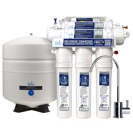 6 Stage Reverse Osmosis Alkaline Water Filter System, RO, Brio Legacy