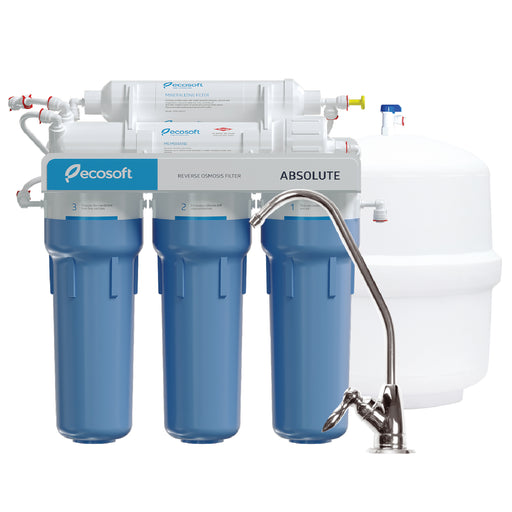 5 Stage Reverse Osmosis Water Filter System, RO, Ecosoft Absolute