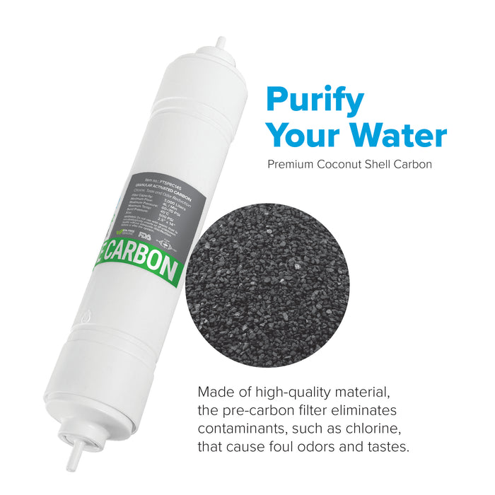 "Brio 2.5"" x 14"" S-Type Pre-Carbon Replacement Filter w/ 1,400 ml capacity"