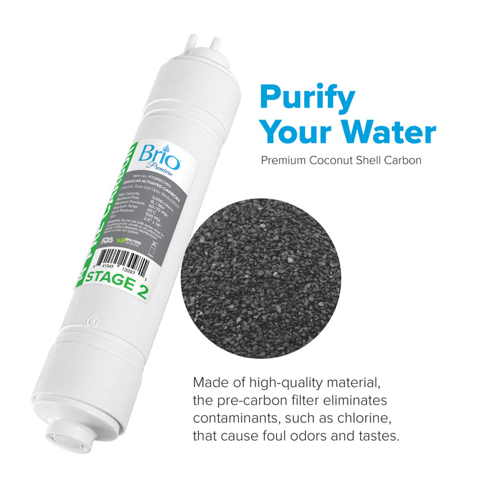 "Brio 2.5"" x 14"" U-Type Pre-Carbon Replacement Filter w/ 1,400 ml capacity"