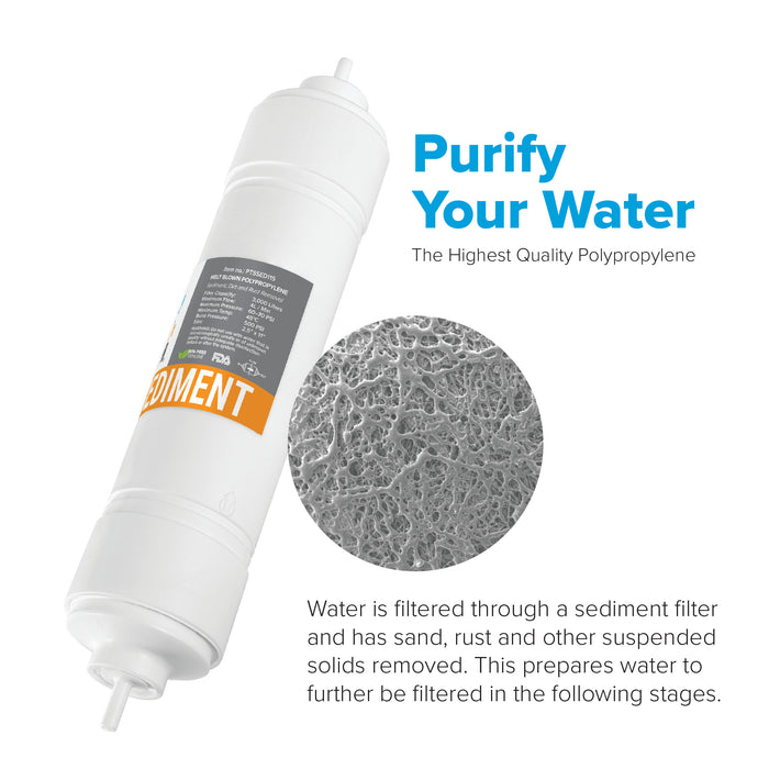 "Brio 2.5"" x 11"" S-Type Sediment Replacement Filter w/ 1,200 ml capacity"