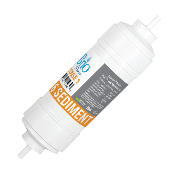 "Brio 2.5"" x 6"" S-Type Sediment Replacement Filter w/ 650 ml capacity"