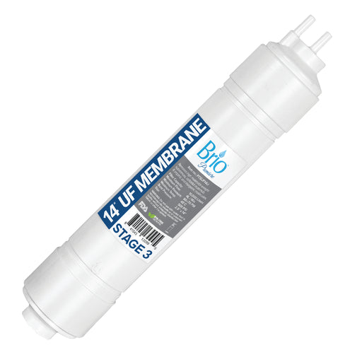 "Brio 2.5"" x 14"" U-Type Ultrafiltration Replacement Membrane w/ 1,400 ml capacity"