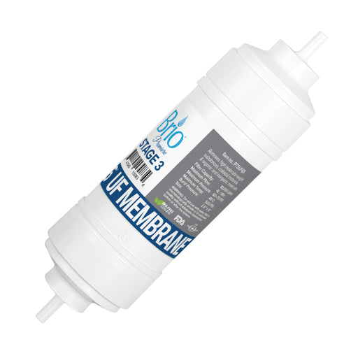 "Brio 2.5"" x 6"" S-Type Ultrafiltration Replacement Membrane w/ 650 ml capacity"