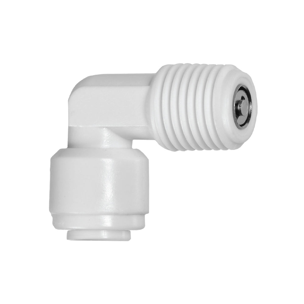 90 Degree, Fixed Elbow Check Valve Adapter