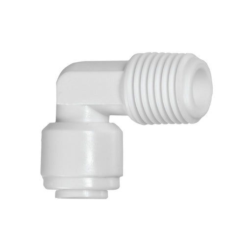Fixed Elbow Adapter with Push Fit Inlet & Threaded Outlet