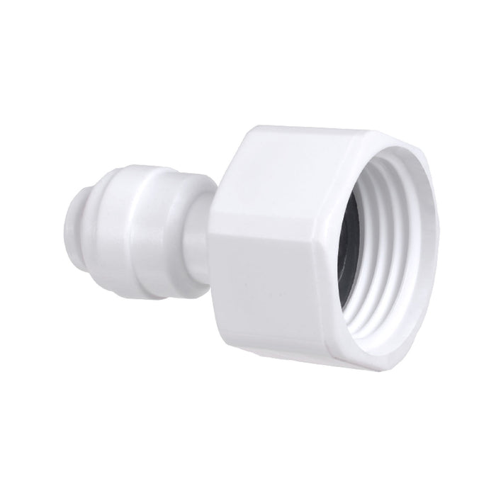 Female Faucet Connector with 1/4-inch Inlet & 1/2-inch Outlet