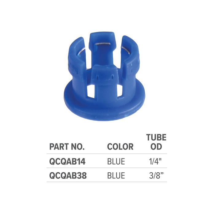 Blue Quick Adapter 3/8
