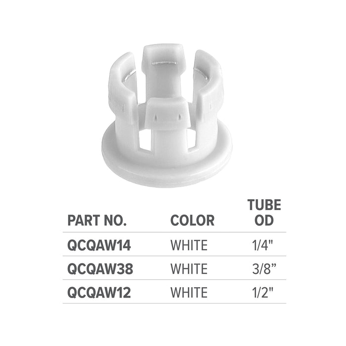 White Quick Adapter 3/8