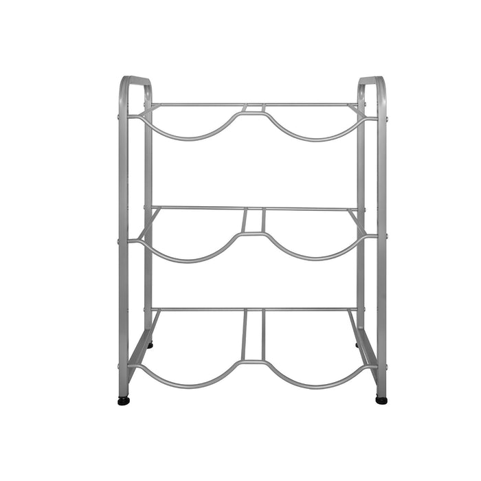 Brio Double Column Gallon Stand w/ 3 Shelves, Gray