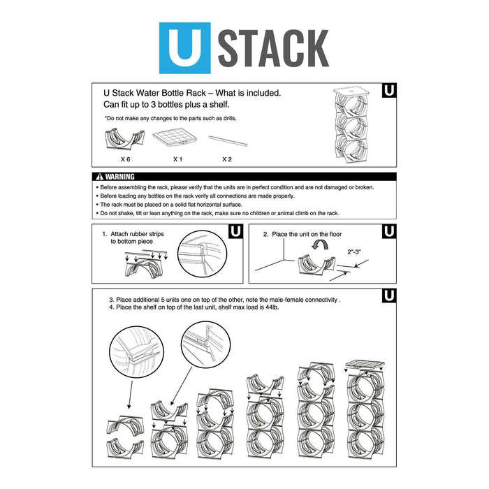 U-Stack Water Bottle Stand for 3- and 5-Gallon Water Bottles