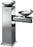 Two Level Freestanding Cold Water Fountains, Stainless Steel, Brio Premiere