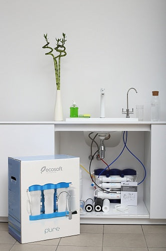 6 Stage Reverse Osmosis Water Filter System with Mineralization, RO, Ecosoft P'URE