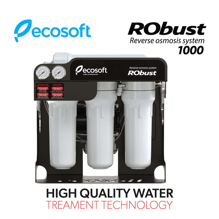 Commercial Reverse Osmosis Water Filter System, 15 GPH, Ecosoft RObust 1000