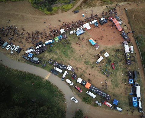 The visual of 640 riders set to race at round 1 of the Over The Hump Mtb