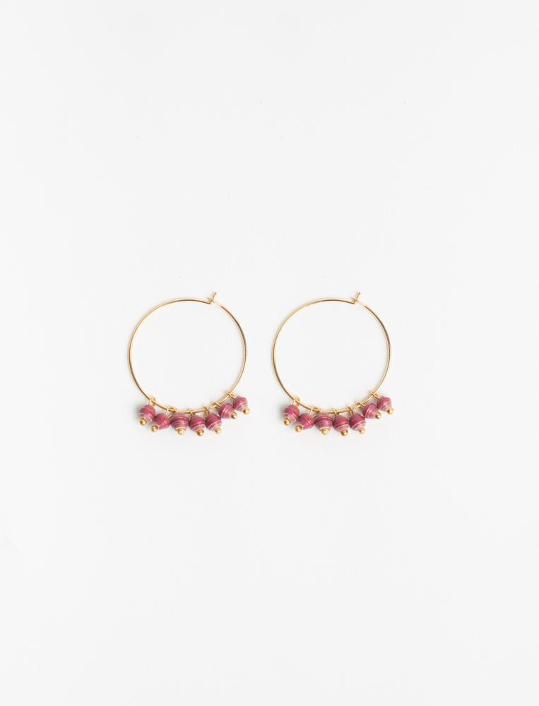 MELAH EARRINGS (WINE) - No.2 Organics