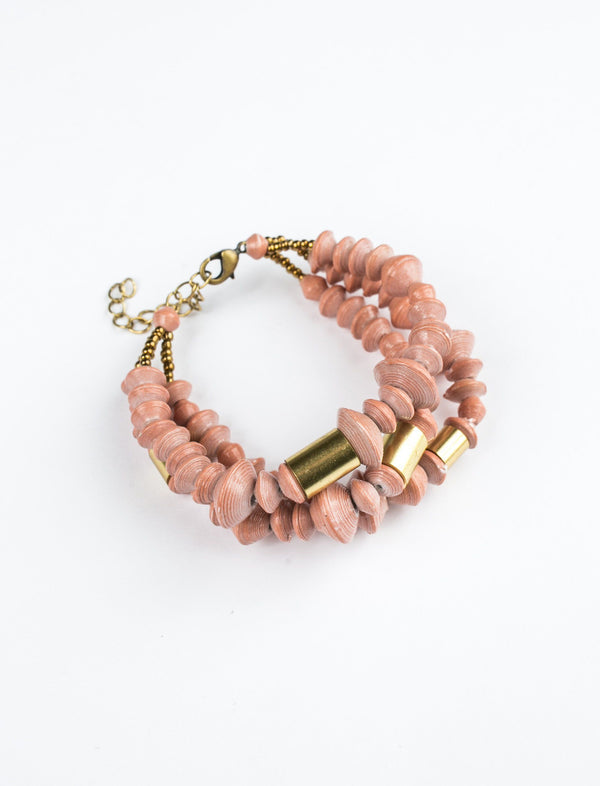 BISBEE BUNDLE BRACELET (ROSE) - No.2 Organics