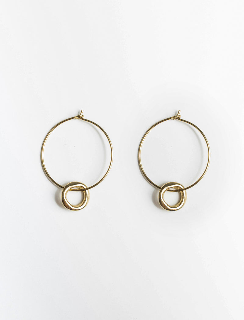 HAMMERED HOOP EARRINGS - No.2 Organics