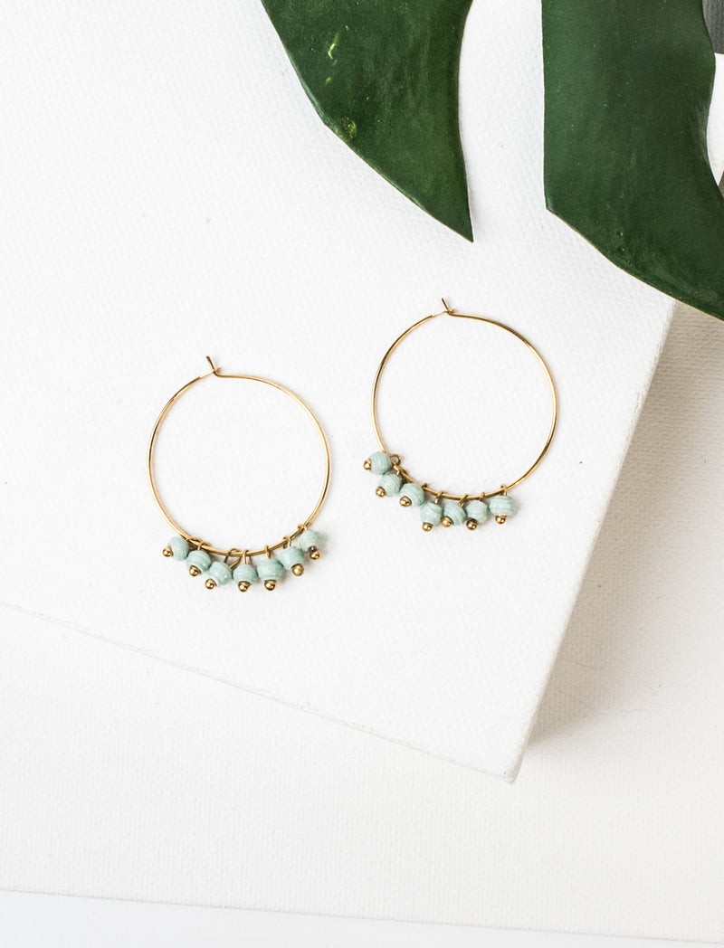 MELAH EARRINGS (MINT) - No.2 Organics