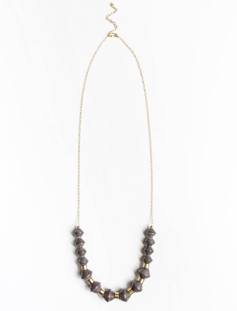 MILLIE SCOOP NECKLACE (CHARCOAL)
