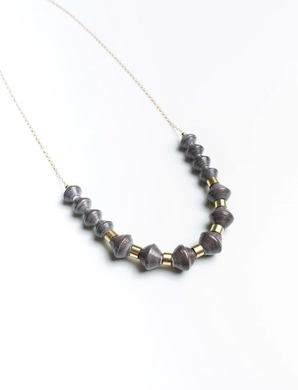 MILLIE SCOOP NECKLACE (CHARCOAL) - No.2 Organics