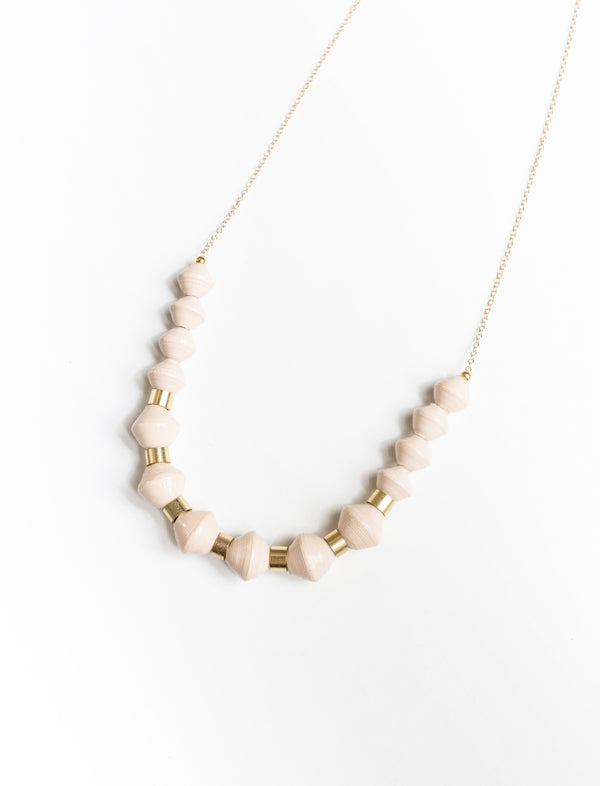 MILLIE SCOOP NECKLACE (CREAM) - No.2 Organics