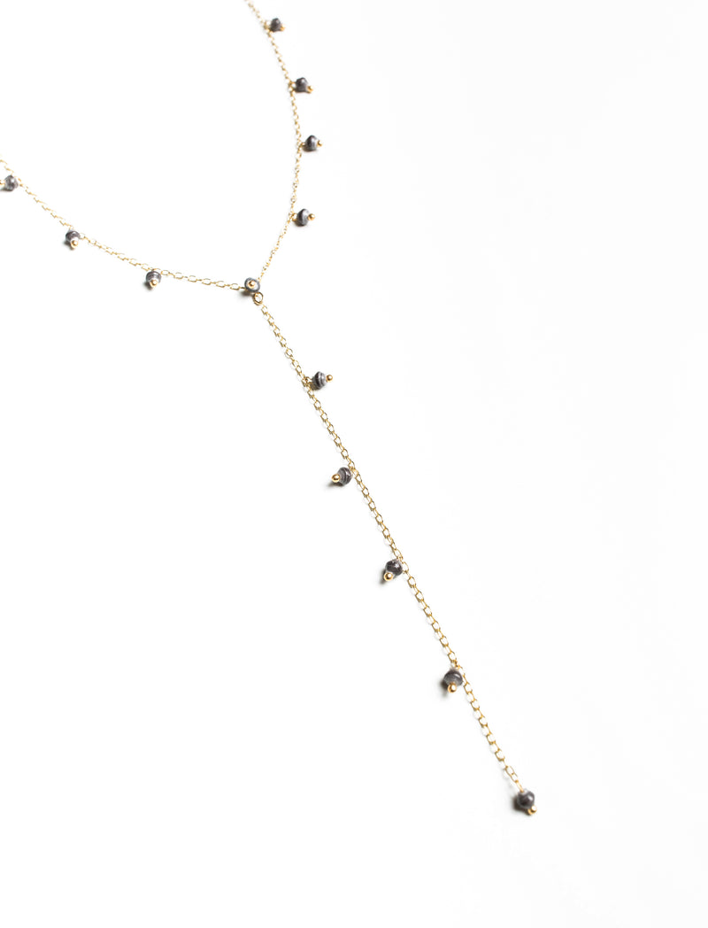 MINI BEAD Y-CHAIN NECKLACE - No.2 Organics