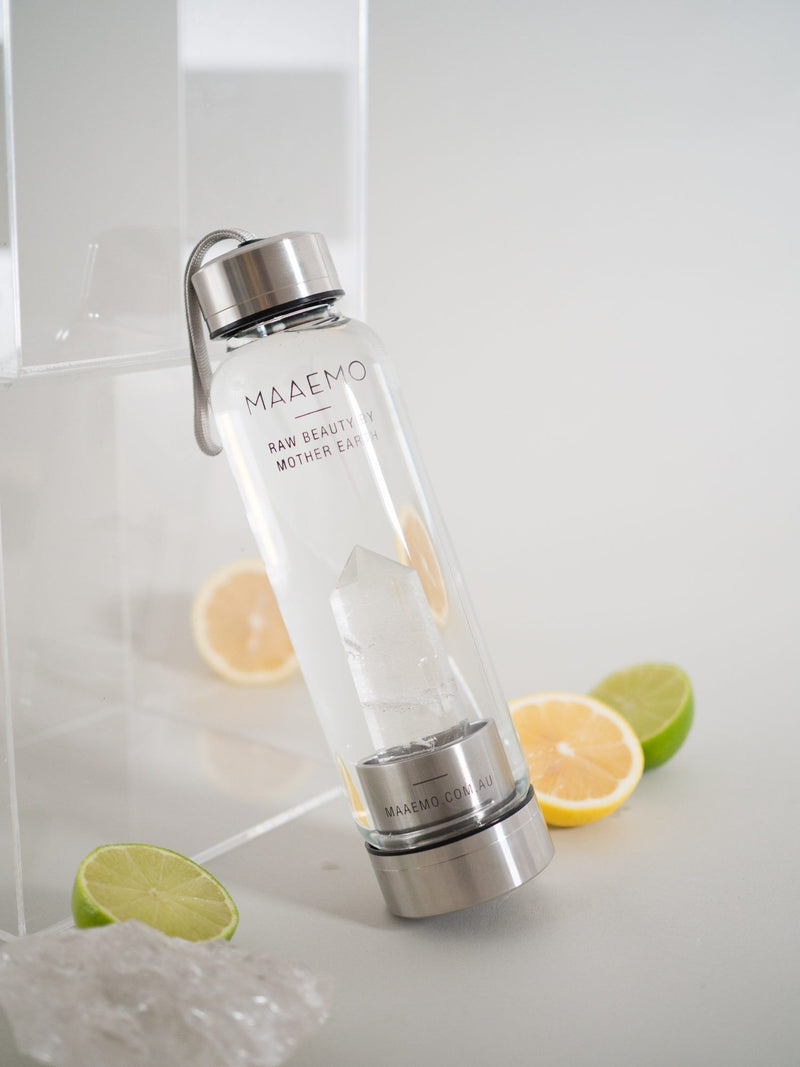 Clear Quartz Crystal Infusion™ Water Bottle - No.2 Organics