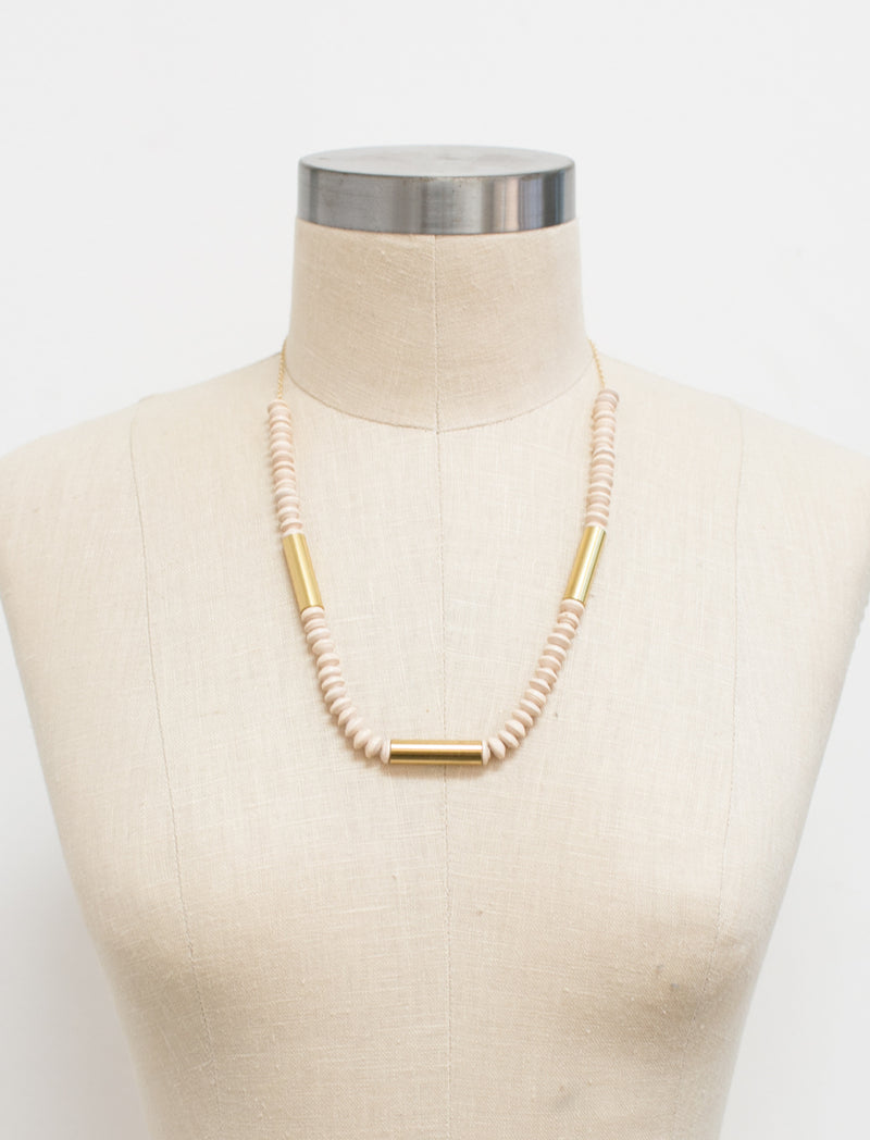 THE JETSETTER NECKLACE (CREAM) - No.2 Organics