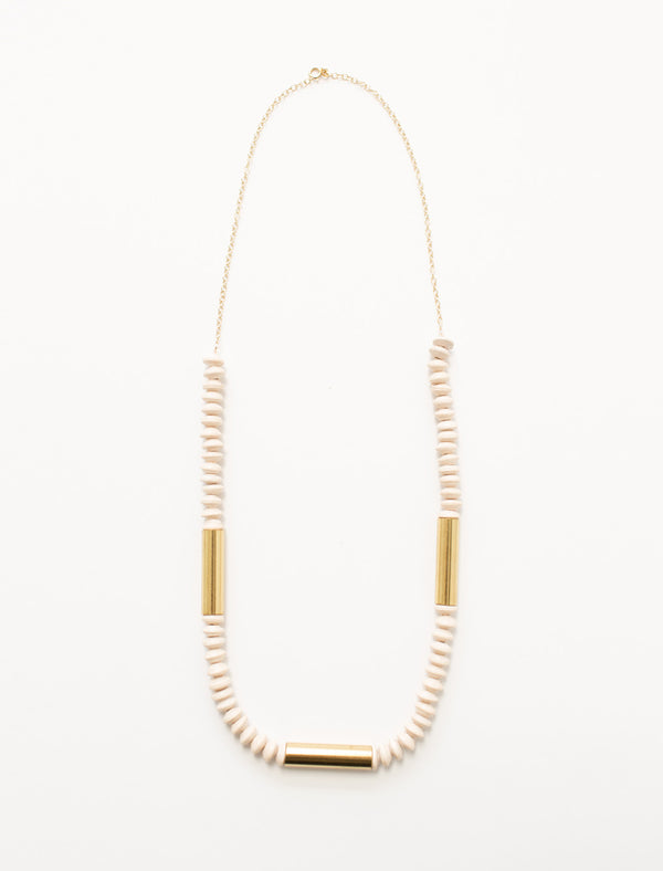 THE JETSETTER NECKLACE (CREAM)