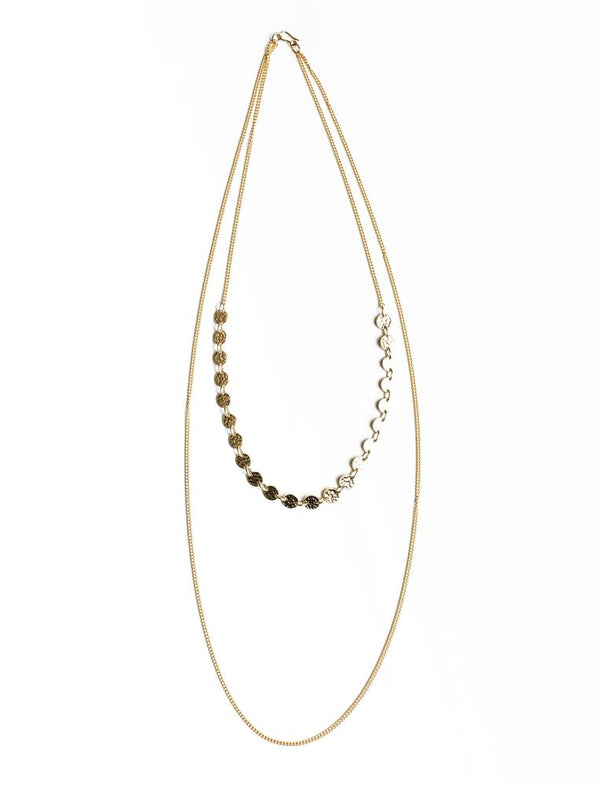 Sweeping Dot Necklace - No.2 Organics