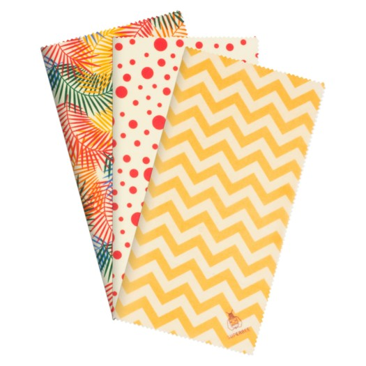 Reusable Beeswax Food Wrap - Beginner Set (Tropical Paradise) - No.2 Organics