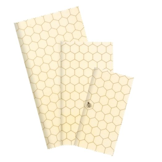 Reusable Beeswax Food Wrap - Beginner Set (Hexagonia)