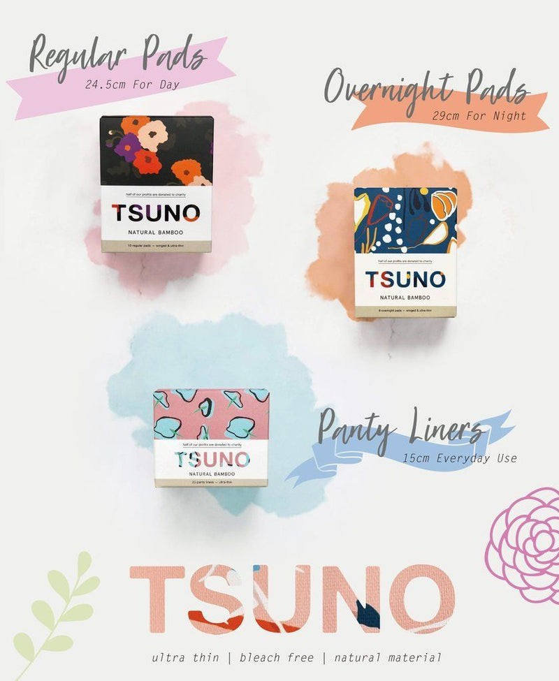 Tsuno - Biodegradable Panty Liners - No.2 Organics