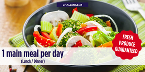 1 main meal each day (Lunch or Dinner)