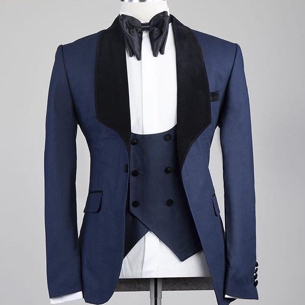 Velvet Dinner Jacket Navy Blue