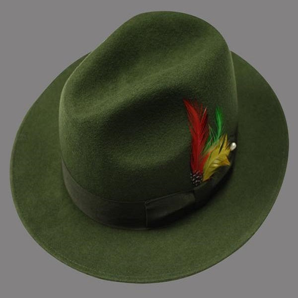 Archmel Green Fedora Hat