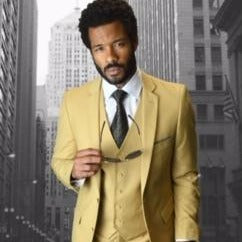 3 Piece Men's Suit Yellow