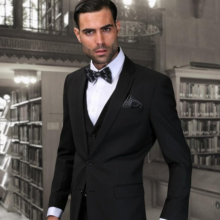 3 Piece Men's Suit Black