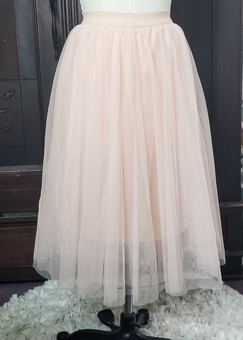 Blush Tulle Skirt (XL)