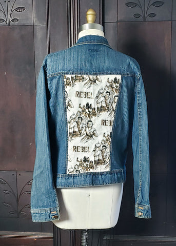 Upcycled Rebels Jean Jacket (Large)