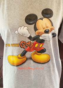 """I'm with Goofy"" Vintage T-shirt (L/XL)"