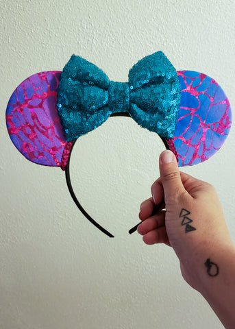 Purple and Blue Mouse Ears
