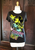 """Rock Out"" Velvet Mickey T-shirt (XL)"