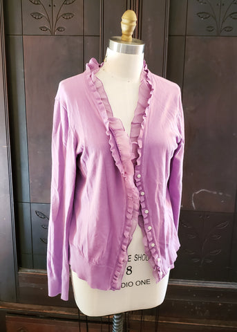 Ruffled Rapunzel Cardigan (Large)