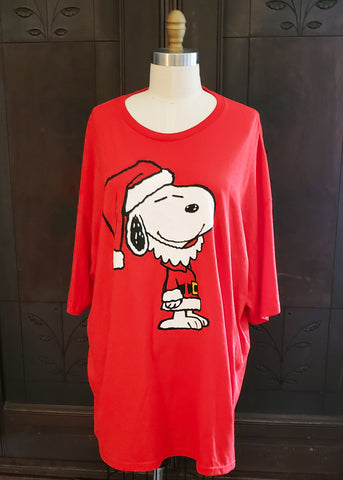 Santa Snoopy T-shirt (3XL)