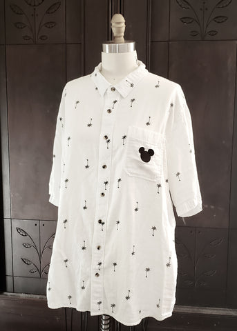 Hawaiian Mickey Mouse Button-Up (XL)